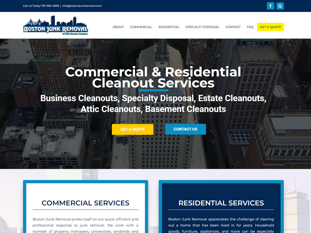 Boston Junk Removal New Website